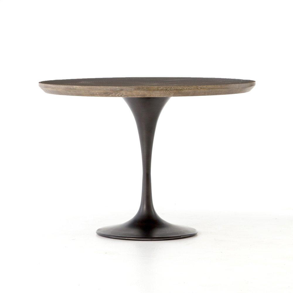 """Light Burnt Oak Finish 42"""" Size Powell Dining Table"""