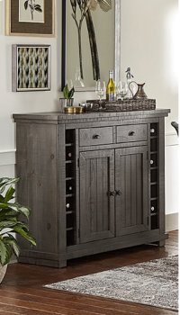 Server - Distressed Dark Gray Finish Product Image