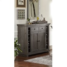 Server - Distressed Dark Gray Finish