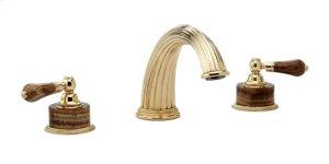 Deck Tub Set Montaione Brown Onyx - Satin Gold Antiqued