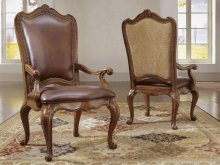 Leather Upholstered Back Arm Chair