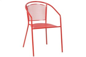 Martini Stackable Iron Mesh Bistro Chair - Cherry Pie