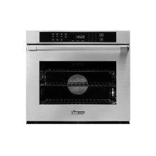 """Heritage 30"""" Single Wall Oven, Silver Stainless Steel with Flush Handle"""