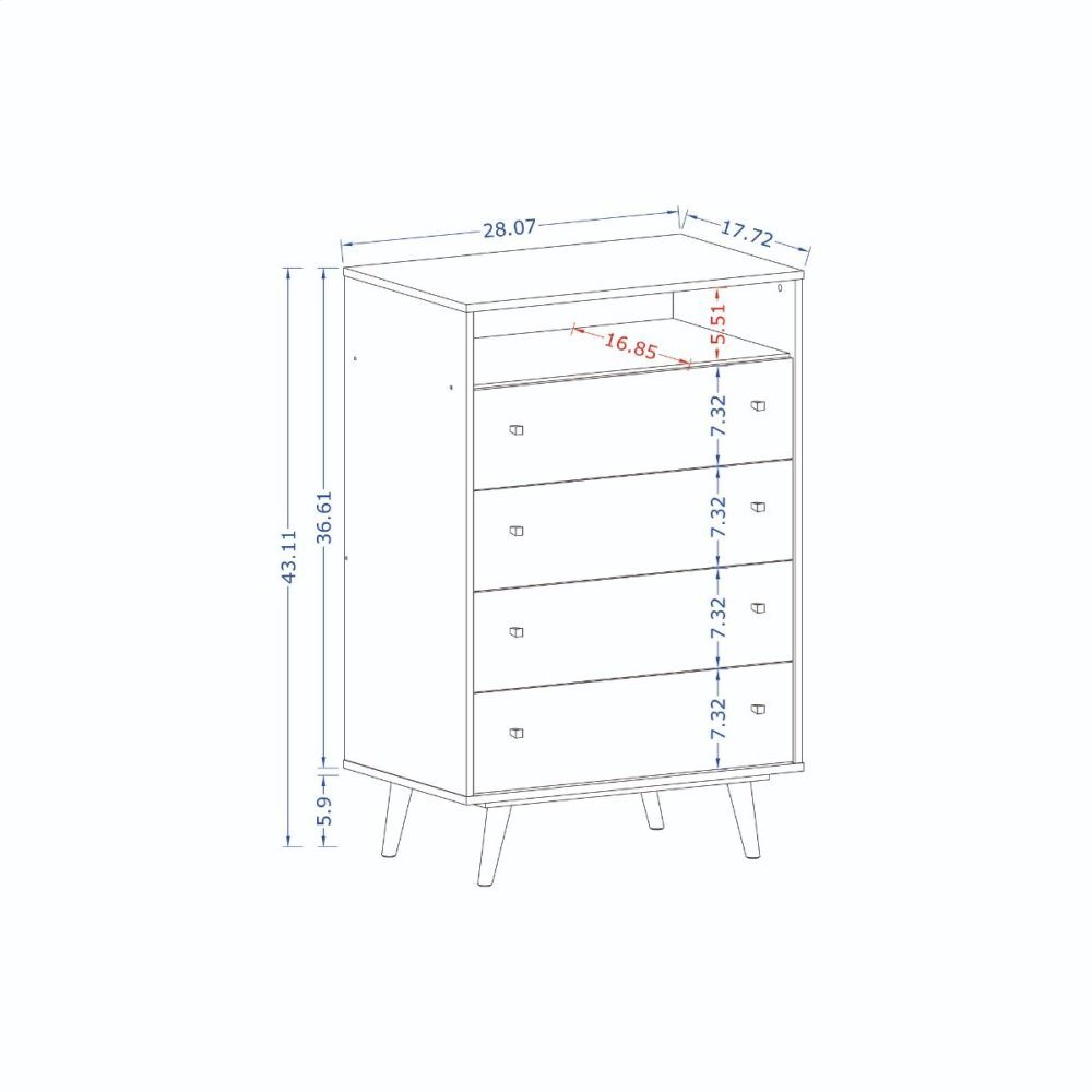 Liberty Dresser in White and Yellow