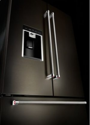 "23.8 cu. ft. 36"" Counter-Depth French Door Platinum Interior Refrigerator with PrintShield™ Finish - Black Stainless"