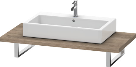Console For Above-counter Basin And Vanity Basin, Ticino Cherry Tree (decor)