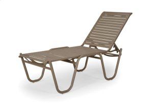 Four-Position High Bed Lay-flat Stacking Armless Chaise