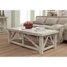 Aberdeen - Coffee Table - Weathered Worn White Finish Product Image