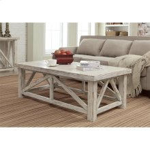 Aberdeen - Coffee Table - Weathered Worn White Finish