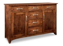 Glengarry Sideboard w/2 Wood Doors & 6/Drws & 2/Wood Adjust.