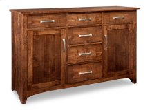 Glengarry Sideboard w/2 Wood Doors & 6/Drws & 2/Wood Adjust.