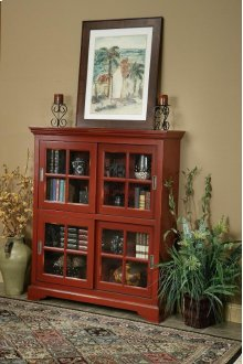 4-Panel Sliding Door Bookcase