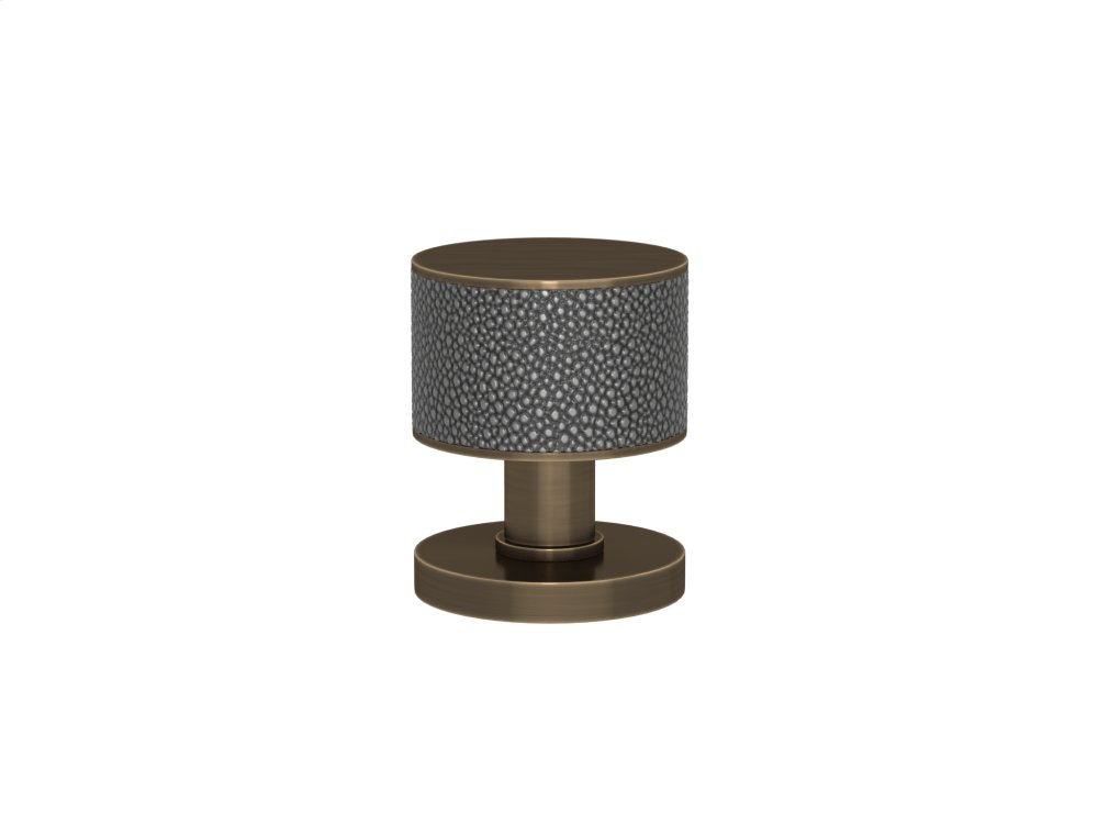 Stacked Shagreen Recess Amalfine In Alupewt And Fine Antique Brass