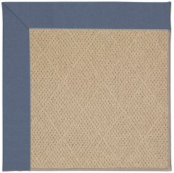 Creative Concepts-Cane Wicker Canvas Sapphire Blue Machine Tufted Rugs
