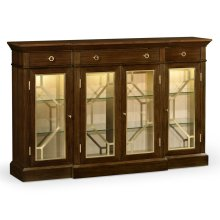 Dark Rosewood Four-Door Display Cabinet
