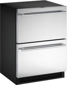 """Stainless Field reversible 2000 Series / 24"""" Drawer Combo® Model"""