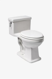 Alden One Piece High Efficiency Elongated Watercloset with Molded Wood Seat STYLE: ALWC01