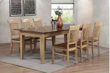 Sunset Trading 7 Piece Brook Rectangular Extension Dining Table - Sunset Trading
