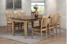 Sunset Trading 7 Piece Brook Rectangular Extension Dining Table - Sunset Trading