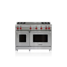 """48"""" Gas Range - 4 Burners and Infrared Dual Griddle"""