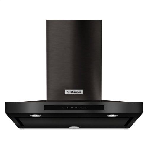"""30"""" Wall-Mount, 3-Speed Canopy Hood - Black Stainless Steel with PrintShield™ Finish"""