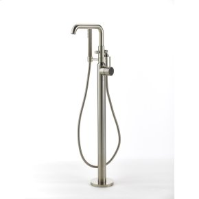 Single Supply Floor Tub Filler River (series 17) Satin Nickel