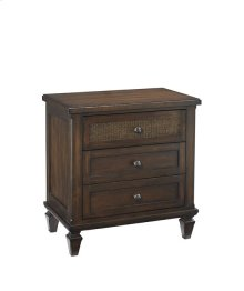 Three Drawer Nightstand - Sable Finish