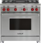 "36"" Gas Range - 4 Burners and Infrared Charbroiler Product Image"