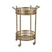 Julep Banded Round Bar Cart with