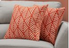 "PILLOW - 18""X 18"" / ORANGE GEOMETRIC DESIGN / 2PCS Product Image"