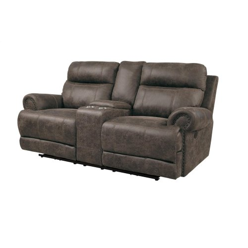 Power Double Reclining Love Seat with Power Headrests and USB Ports