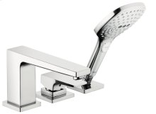 Chrome 3-Hole Roman Tub Set Trim with Lever Handle and 2.0 GPM Handshower