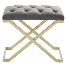 Rada Single Bench in Grey and Gold