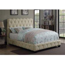 Elsinore Beige Upholstered Queen Bed