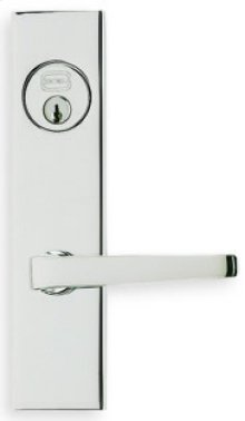 Modern Narrow Backset Lever Lockset in (Modern Narrow Backset Lever Lockset - Solid Brass)