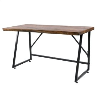 Carsten Desk Black Iron Legs, Natural