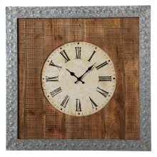 Galvanized Frame Wall Clock.