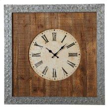 Galvanized Frame Wall Clock.