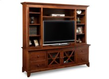 "Florence 83"" HDTV Cabinet with Hutch"