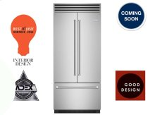 "36"" PRO Built-in Refrigerator/Freezer with French Door"