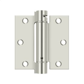 "3 1/2""x 3 1/2"" Spring Hinge - Polished Nickel"