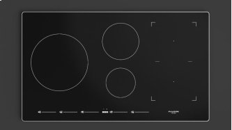 """36"""" Induction Cooktop With Brushed Aluminum Trim - Black Glass"""