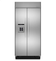 KitchenAid® 25.3 Cu. Ft. 42-Inch Width Built-In Side-by-Side Refrigerator, Architect® Series II - Stainless Steel