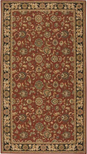 Hard To Find Sizes Grand Parterre Pt01 Rust Rectangle Rug 7' X 13'