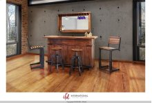 Wooden Bar Base w/Iron footrest