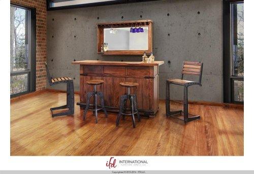 "30"" Iron Barstool w/wooden seat & back"
