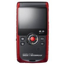 W200 Rugged Full HD 1080p Pocket Camcorder (Red)