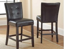 "Monarch Bar Chair, Black 19"" x 25"" x 45"""