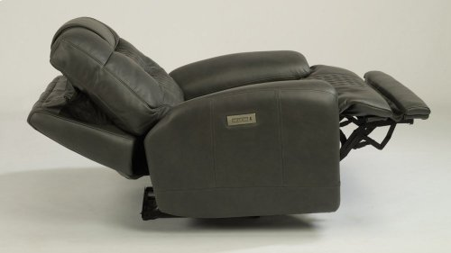 Royce Leather Power Recliner with Power Headrest