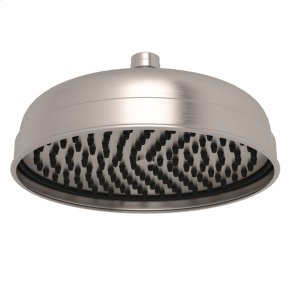 "Satin Nickel Perrin & Rowe Transitional 8"" Rain Showerhead"
